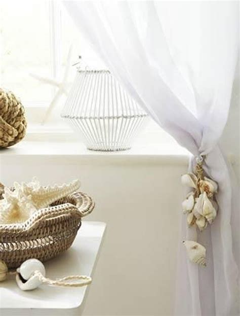 seashell sheer curtains shell curtain decoration
