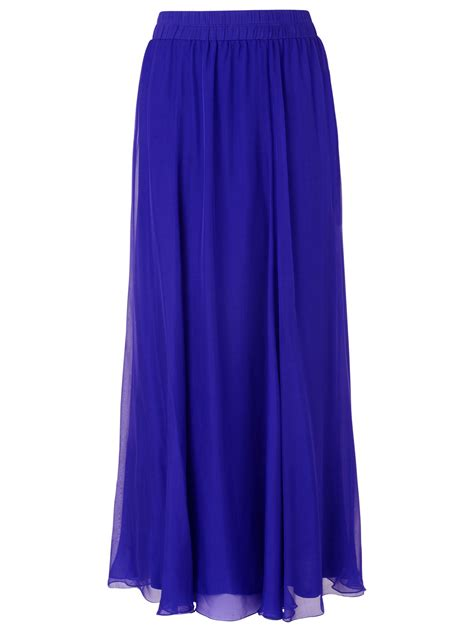 New Season Maxi Skirts by Phase Eight Iona Silk Maxi Skirt Periwinkle