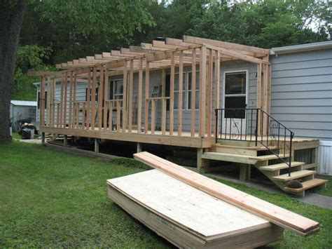 modular room addition cost mobile home sunroom during work i done sunroom porch and decking