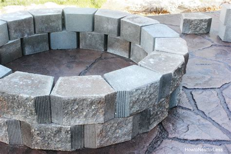 building a patio pit diy patio and firepit modern patio outdoor
