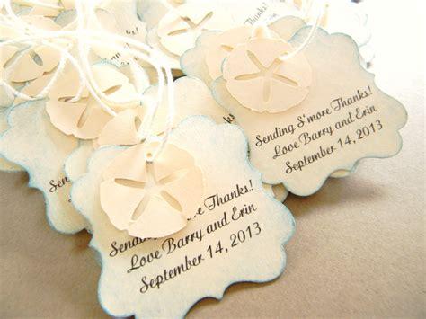 wedding favors tags wedding favor tags for bags starfish sand dollar tags