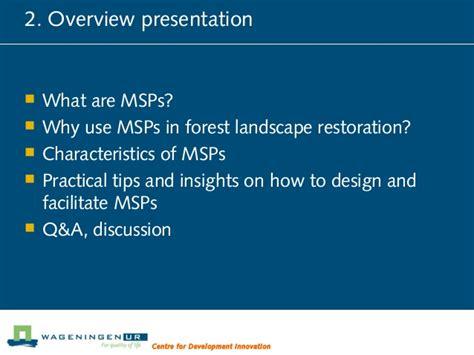 multistakeholder processes in forest landscape restoration