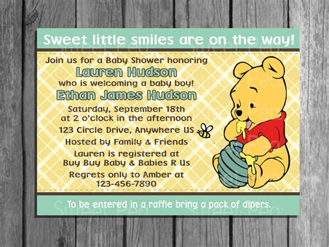 winnie the pooh templates for baby shower winnie the pooh baby shower invitations best invitations