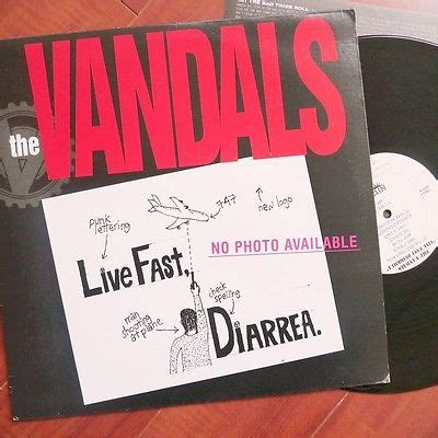 Vinyl Nofx I Heard They Live Lp popsike the vandals quot live fast diarrhea quot lp vinyl