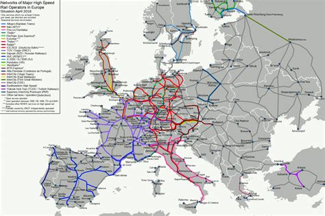 rail map of europe image gallery tgv europe