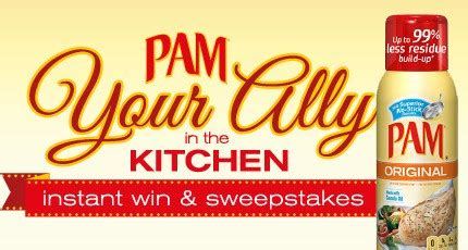 Free Online Instant Win Sweepstakes - pam cooking spray sweepstakes and coupon who said