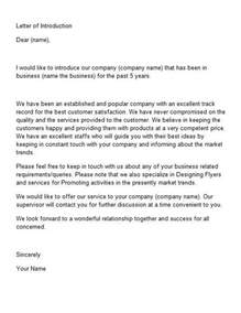 letter  introduction template  sss introduction letter company introduction business