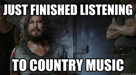 just finished listening to country music tortured