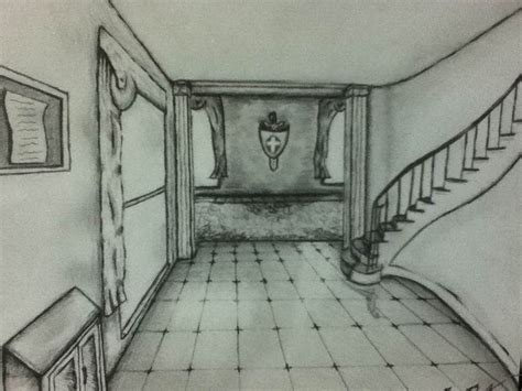 Interior Perspective Drawing by Perspective Interior Drawing By Ben3418 On Deviantart