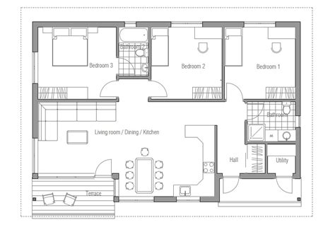 Cheap Floor Plans by Affordable Home Ch63 Floor Plans House Design In
