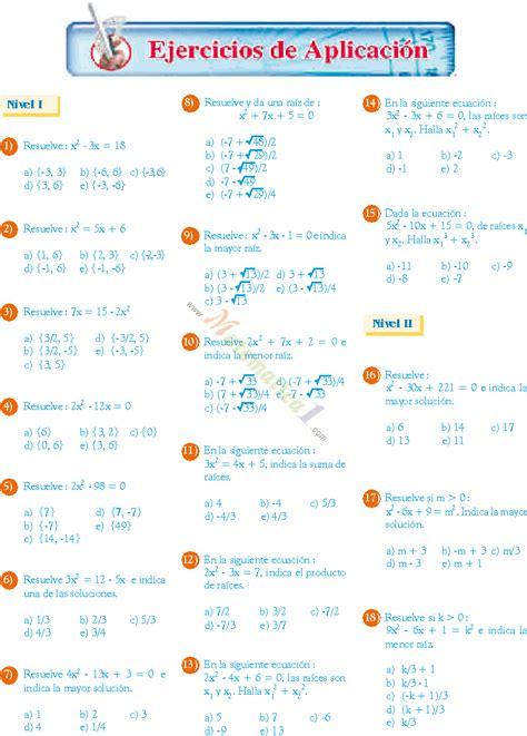 segundo grado image gallery ecuaciones pdf