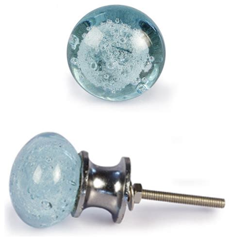 Turquoise Glass Cabinet Knobs by Glass Knobs Light Turquoise Set Of 2 Silver Base