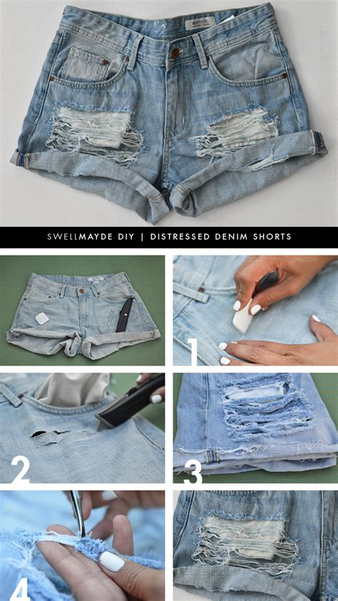 diy distressed shorts tutorial diy distressed denim shorts