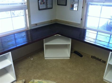 Diy L Shaped Desk Remove The Corner Shelf And Replace Corner Desk Diy