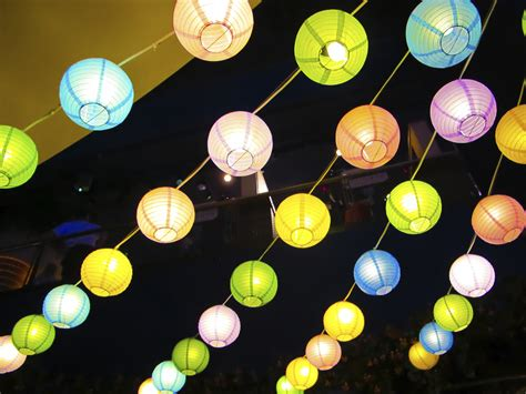 A Paper Lantern - colourful paper lanterns