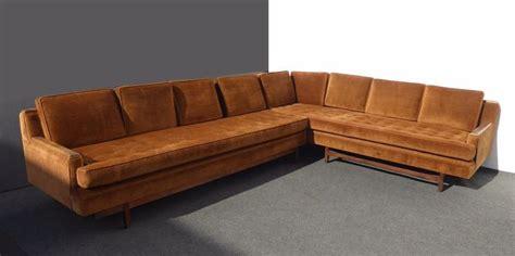 vintage orange velvet sofa 116 best vintage sectionals images on