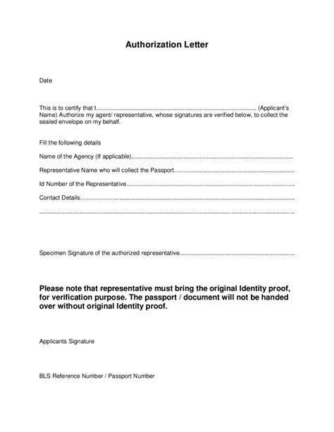 authorization letter format for collecting marksheet sle of authorization letter to collect my passport