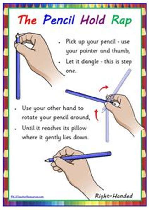 the pencil hold rap kindergarten 5th grade printables