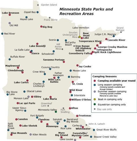 mn state parks map minnesota state park csites map cing