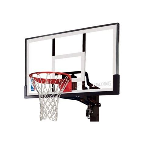 basketball hoop backboard spalding in ground basketball system 88365 54 inch acrylic
