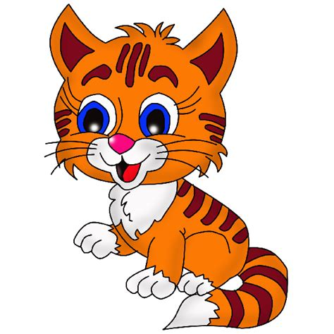 Big Cat clipart baby kitten   Pencil and in color big cat
