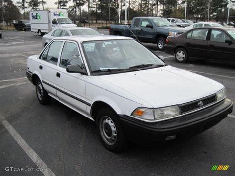 1991 toyota corolla 1991 white toyota corolla sedan 24493949 photo 2