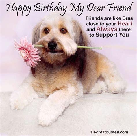 Happy Birthday Wishes Dogs Birthday Wishes For Friends Fun Stuff Pinterest