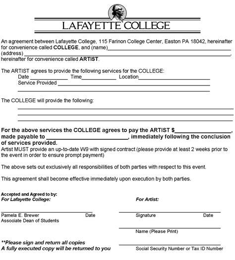 Agreement Letter Between Student And Sle Contract Student Organization Guide