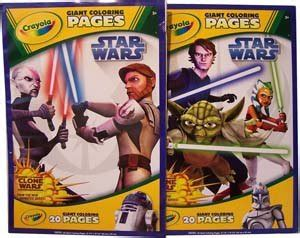 crayola giant coloring pages star wars amazon com crayola star wars giant coloring pages toys