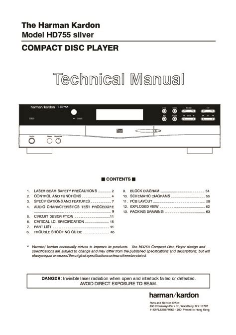 Harman Kardon Hd 755 Serv Man9 Service Manual View