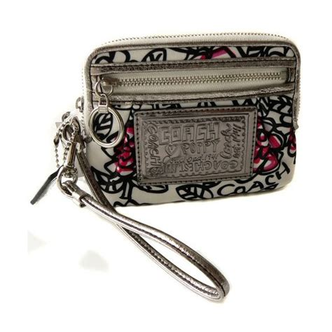 Terbaik Coach Wrislet Zipper Authentic Usa greenapple4sale authentic branded bags coach poppy flower graffiti med wallet 43701
