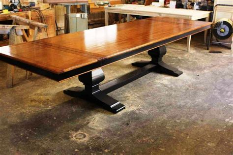 trestle table with leaves trestle table plans with leaves home design things to