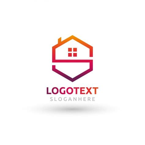 house logo polygonal house logo vector free download