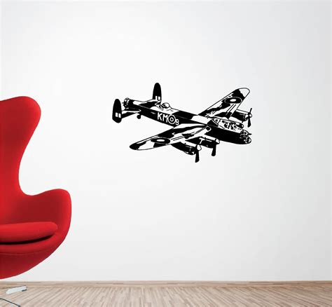 Musical Wall Stickers lancaster bomber plane vinyl wall art quote sticker