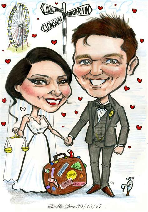 Wedding Gift Ideas Ireland by Wedding Gift Ideas Caricature Allan Cavanagh