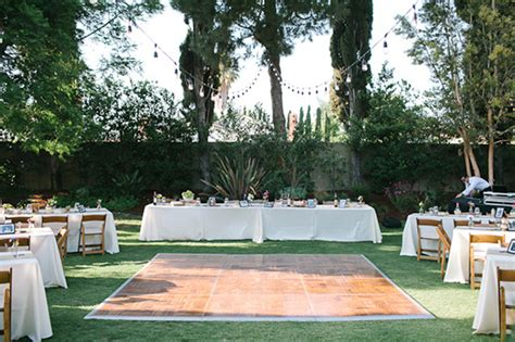 Fruit Stand Backyard Wedding Reception Small Backyard Wedding Reception