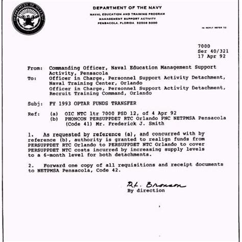 Navy Business Letter Template standard naval letter format letter format writing