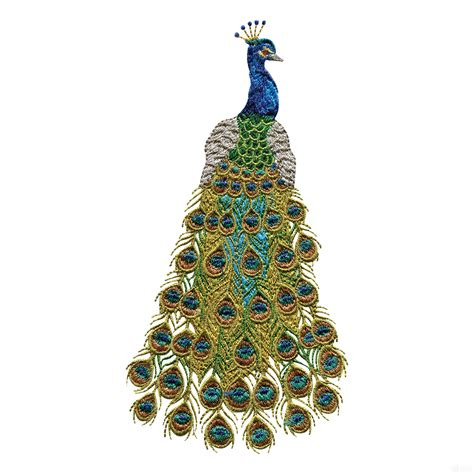 embroidery design of peacock swnpa124 peacock embroidery design