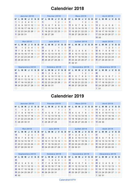 calendrier 2018 2019 224 imprimer gratuit en pdf et excel