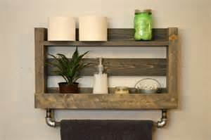 rustic bathroom storage rustic modern bathroom shelf bath towel rack by