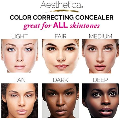 best eye color corrector aesthetica color correcting concealer wheel palette