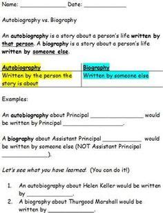 biography and autobiography sorting activity 1000 images about la biography on pinterest biography