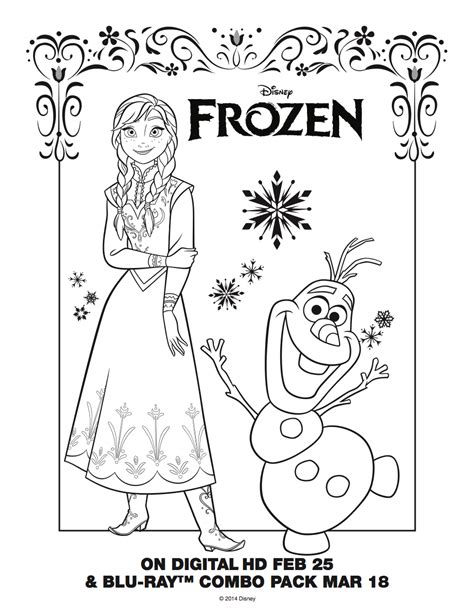 frozen coloring pages anna and elsa and olaf frozen anna and olaf coloring sheet elsa and anna photo