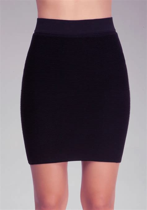 Bodycon Mini Skirt ribbed bodycon mini skirt yakijo