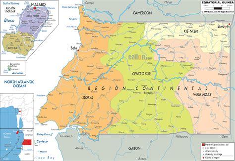 guinea ecuatorial map political map of equatorial guinea ezilon maps