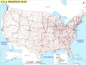 map of united states with cities and highways 6 best images of united states highway map printable