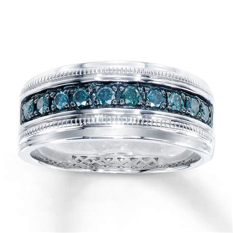 s blue ring 1 2 ct tw cut sterling