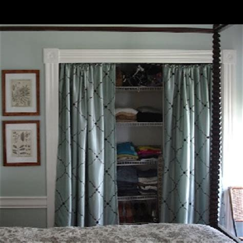 curtains to cover closet curtains to cover open closet first home pinterest