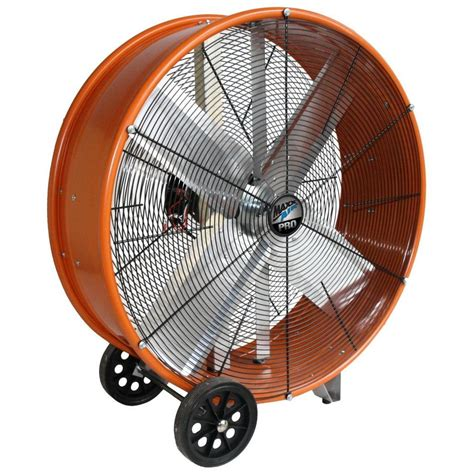 used big fan maxxair 30 in industrial heavy duty 2 speed pro drum fan