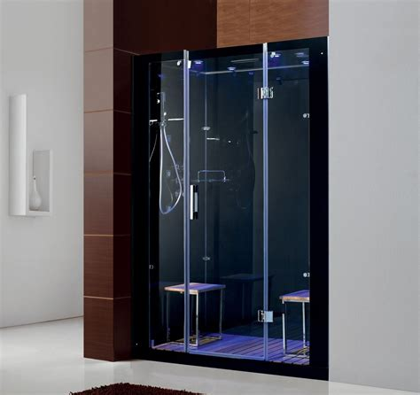 Steam Bath Shower Enclosures steam showers no need for shower curtains on modern